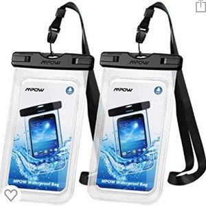 Pack of 2 waterproof phone pouch dry bag-New
